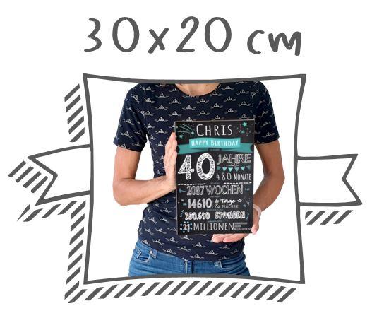 Meilensteintafeln Chalkboards Kreidetafel Format 30x20
