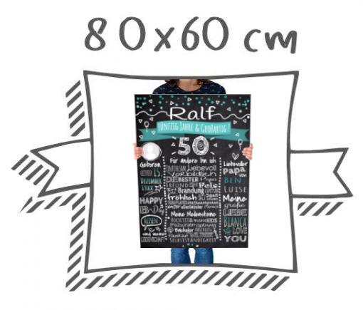 Meilensteintafeln Chalkboards Kreidetafel Format 80x60