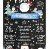 Meilensteintafel Babys Erstes Weihnachten Geschenk Personalisiert Kreidetafel Junge X Mas Design 1