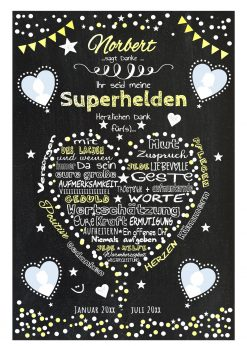 Meilensteintafel Für Krankenpfleger Altenpfleger Danke Geschenk Personalisiert Chalkboard Gelb