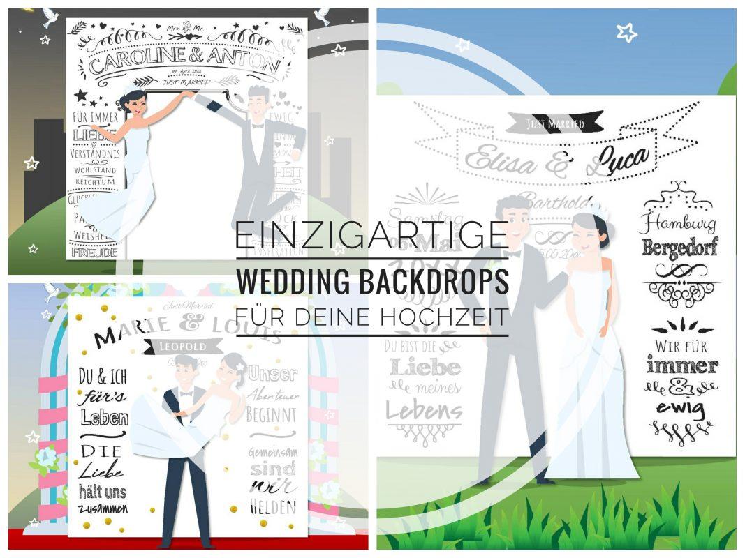 Wedding Backdrops Hochzeit Fotohintergrund Personalisierbar Kreide Chalkboard 01