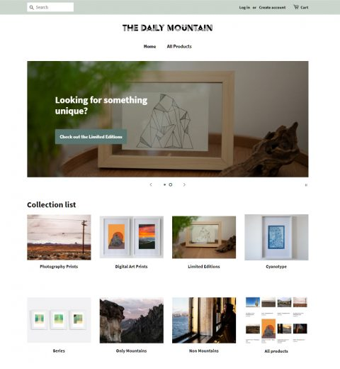 The Daily Mountain webshop in Art Photography