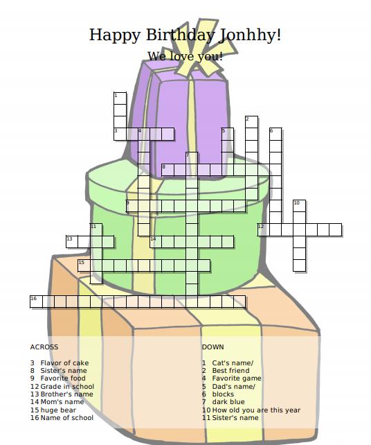 Kreuzworträtsel erstellen hintergrundbild