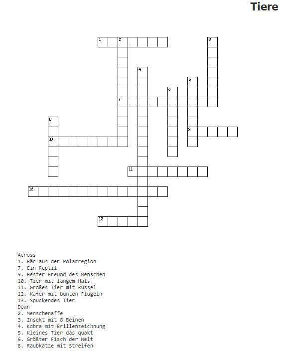 Online Kreuzworträtsel Erstellen