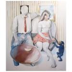 Det var sällan någon brydde sig <br />akryl på duk 150 x 130 cm<br />Kristina Nilsdotter/Bildupphovsrätt 2010