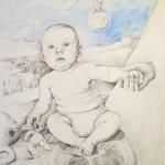 Samsara t.o.r. I<br />teckning 70x50 cm<br />© Kristina Nilsdotter/Bildupphovsrätt 2009