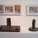 Om en relation<br/>bronsgrupp och fototavlor<br/>© Kristina Nilsdotter/Bildupphovsrätt 1991/1996