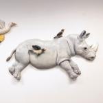 Noshörning med vänner/variation 1: Psst! Upp-och-ner, Ada!<br/>© Kristina Nilsdotter/Bildupphovsrätt 2019