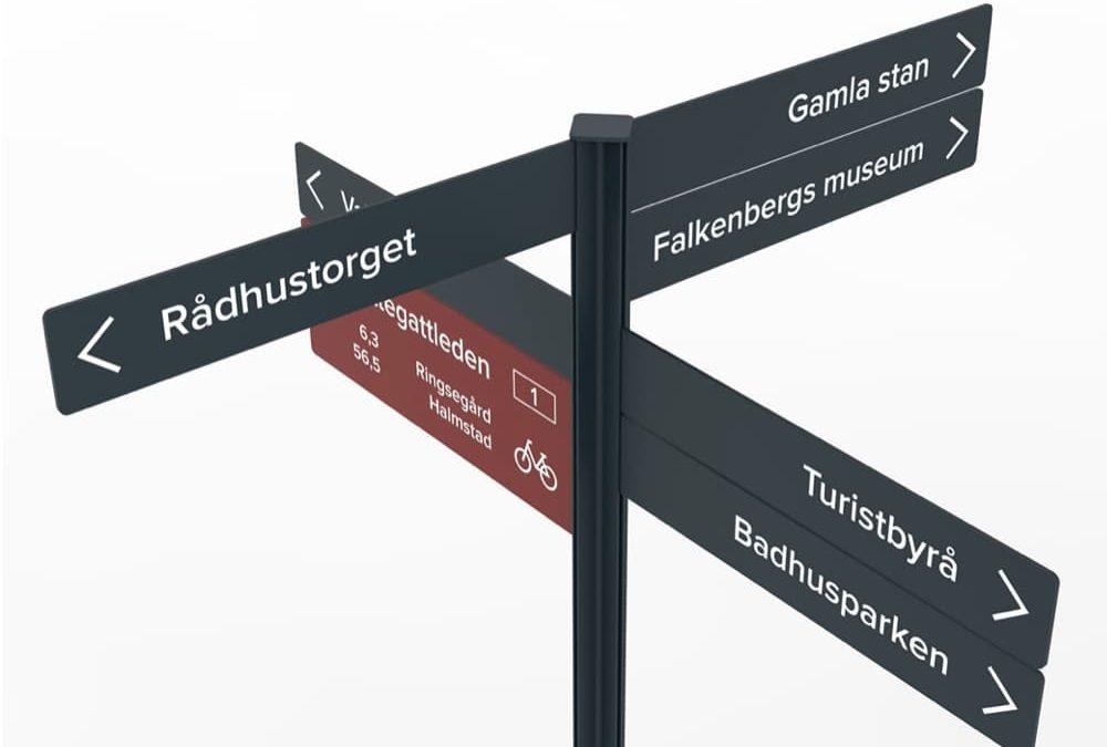 Nytt skyltprogram i Falkenberg centrum