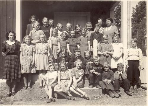Hela skolan på 40-talet