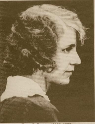Ester Callersten (1902-1193). Hon är den lärare som varit längst i Krokshult