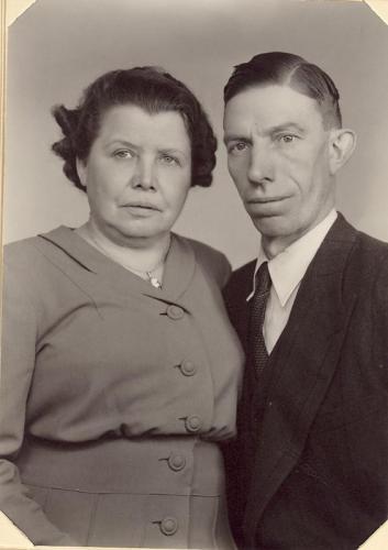 Elin och Karl Norling.De gifte sig 1945