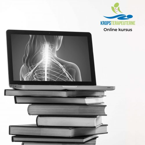 E learning concept. Books stack and an open computer laptop with black blank screen isolated on white background. Vertical photo, copy space, template.