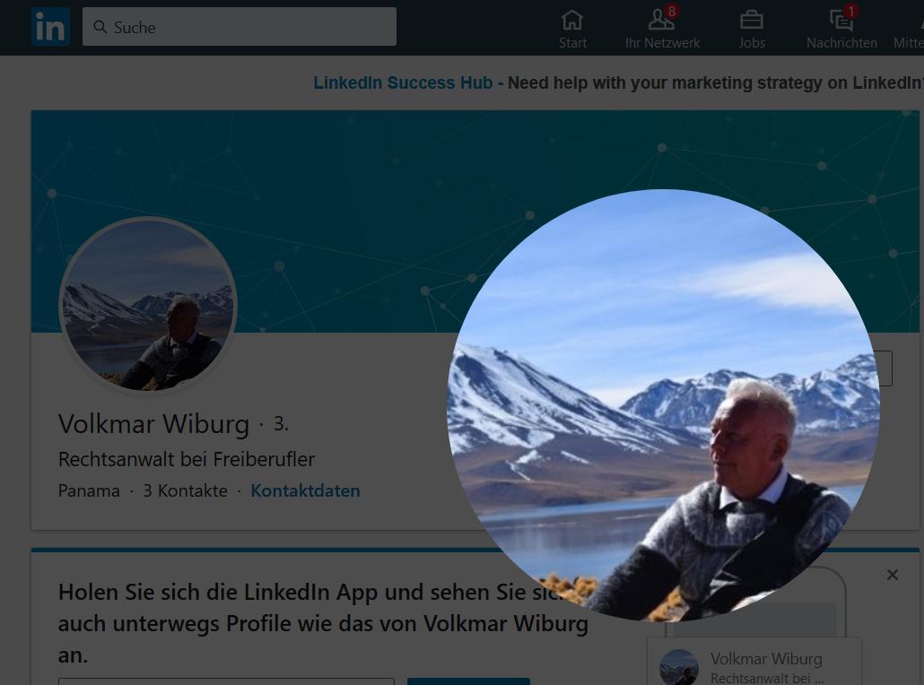Ralph Girgla gibt vor Volkmar Wiberg zu sein