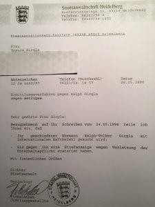 Ralph-Volker Girgla Internationaler Haftbefehl