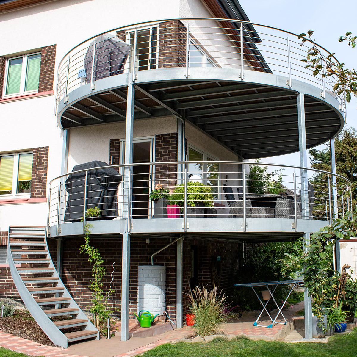 KS-Stahltechnik Referenz Balkon rund, halbrund