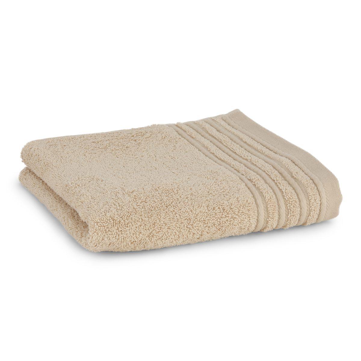 Håndklæde med broderet navn - ecru
