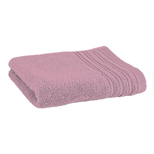 Håndklæde med broderet navn - gammel rosa