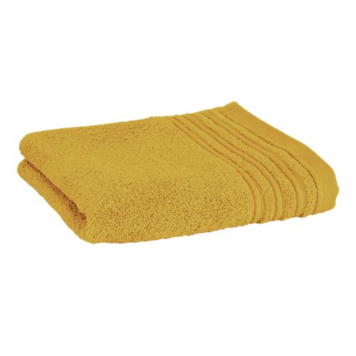 Håndklæde med broderet navn - gylden