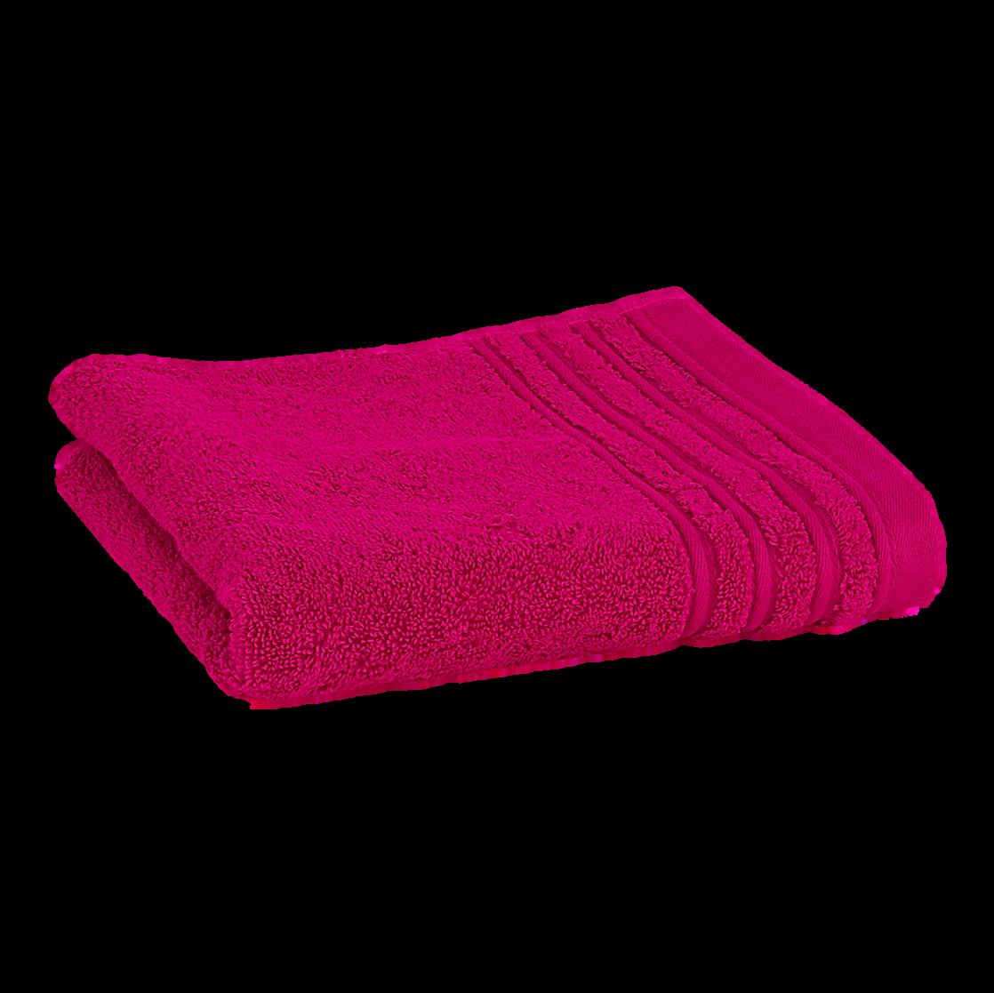 Håndklæde med broderet navn - hindbær