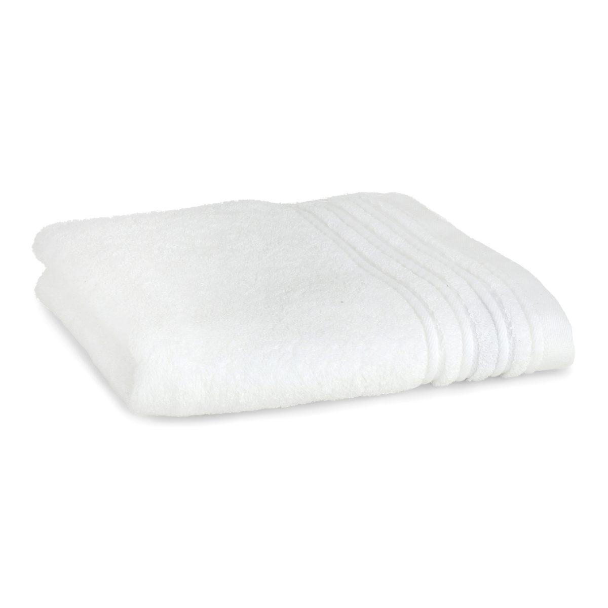 Håndklæde med broderet navn - hvid