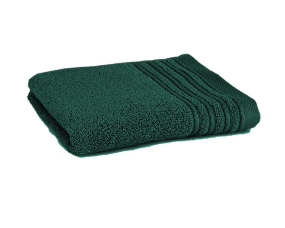 Håndklæde med broderet navn - mørk turkis