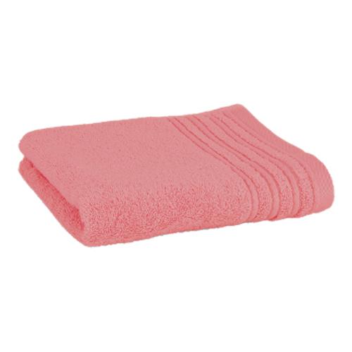 Håndklæde med broderet navn - coral