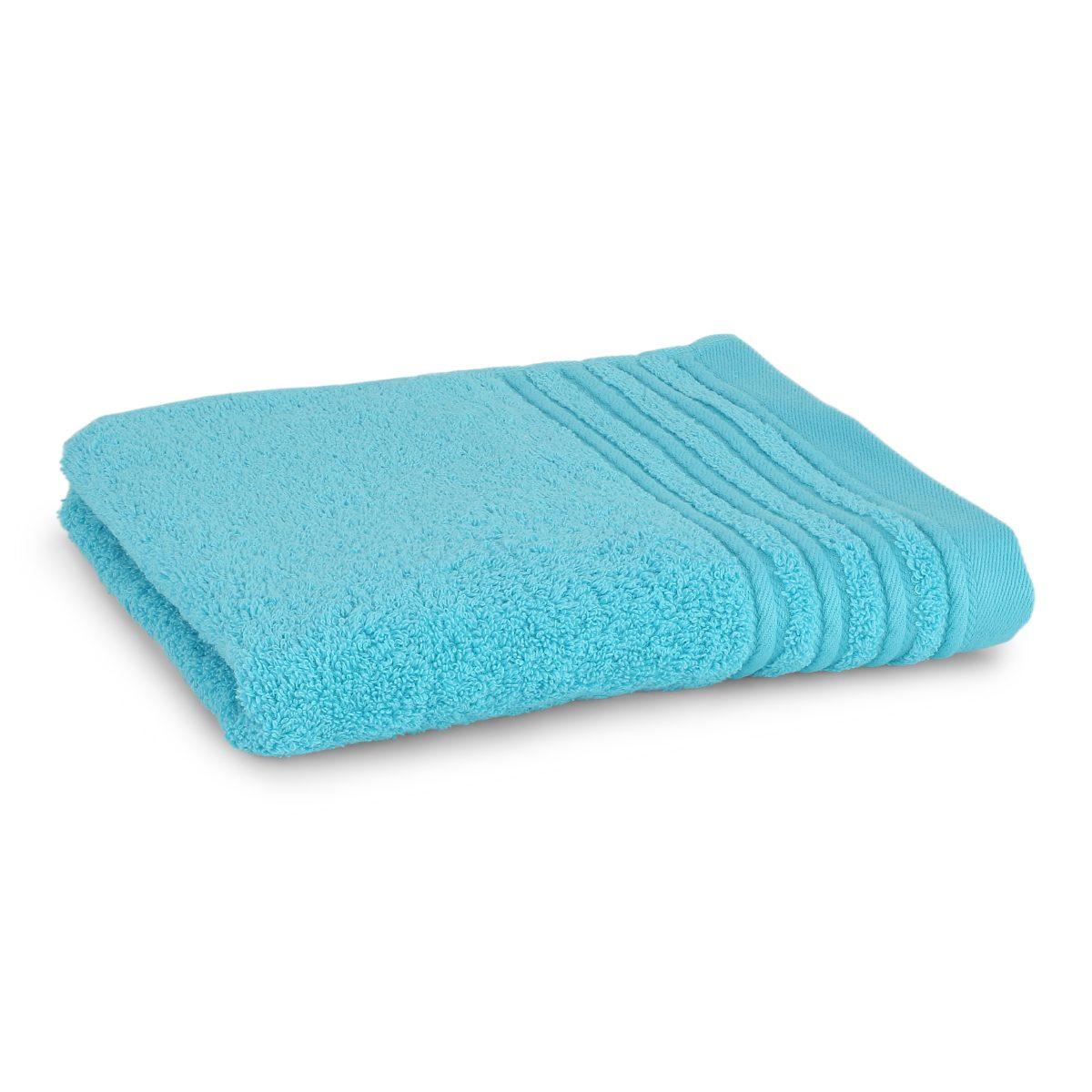 Håndklæde med broderet navn - Turkis