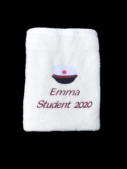 Håndklæde til student