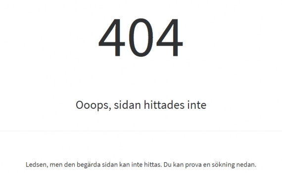 404 sidan hittades inte