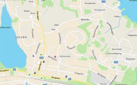 Kartbild över Delsbo