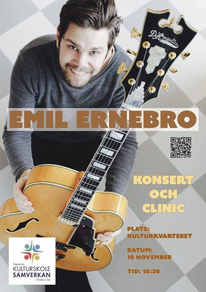 Gitarr-clinic och konsert 8 november 2021