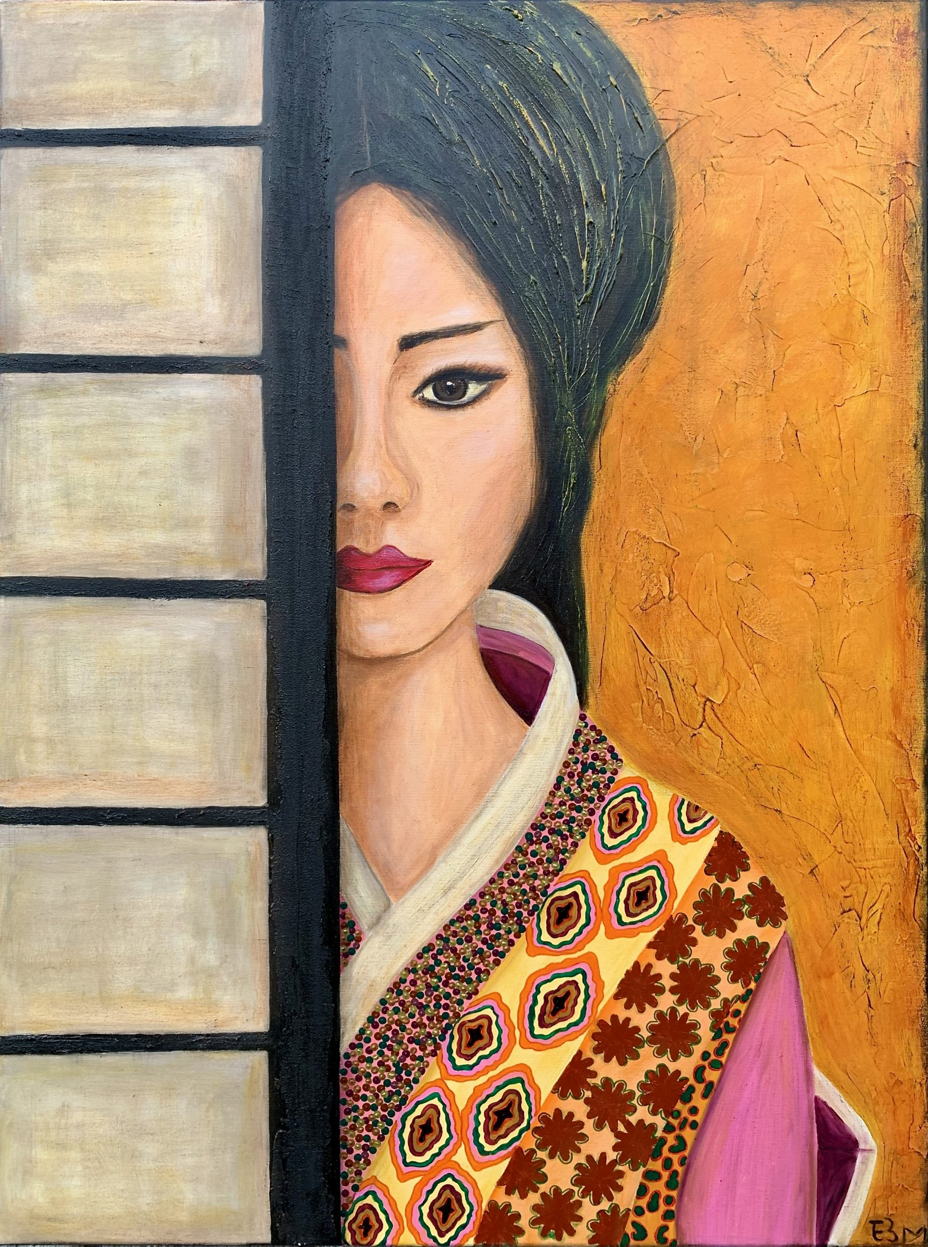 Geisha of Japan - Acryl - 120 x 90 cm
