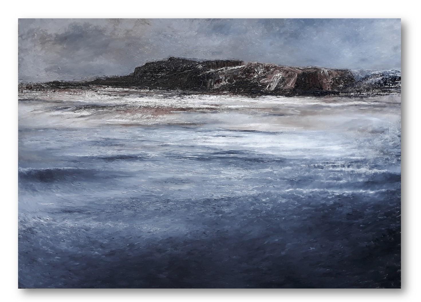 Harry de Boer - Seascape - Olieverf (impasto) - 100 x 150 cm