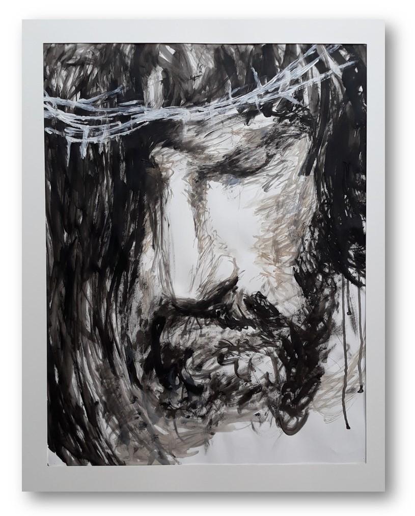 Christus - Olieverf - 80 x 60 cm