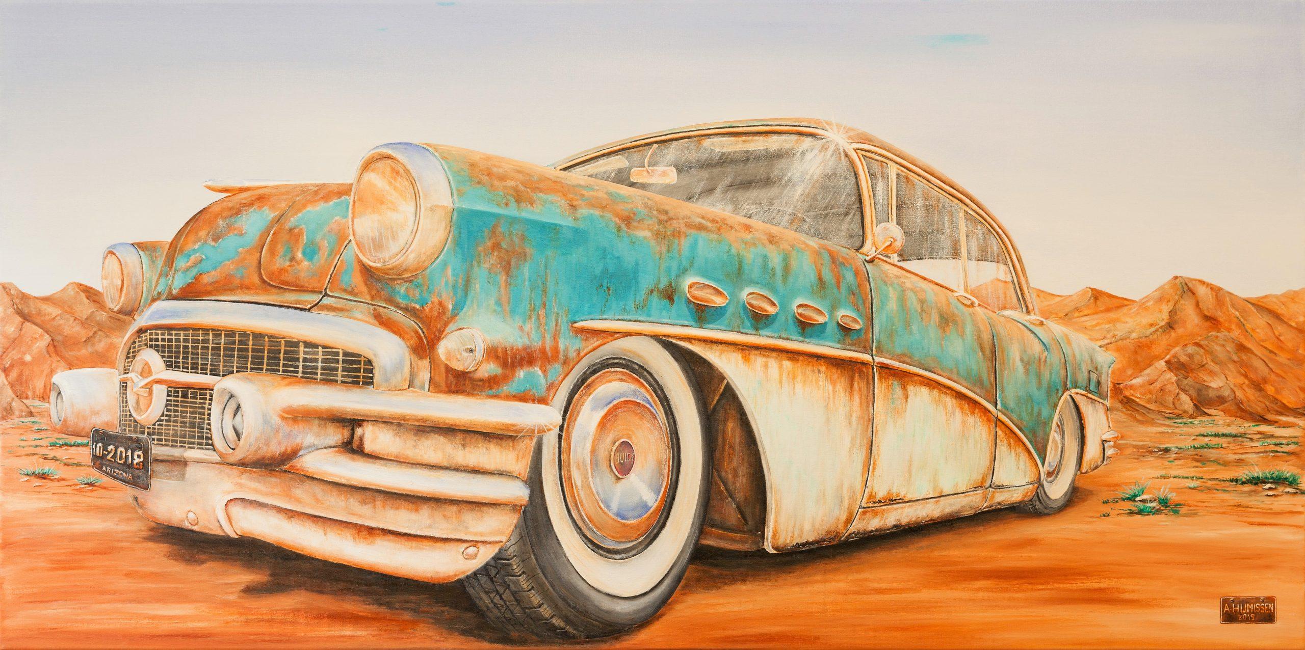 Still Shining Buick - Acryl - 60 x 120 cm
