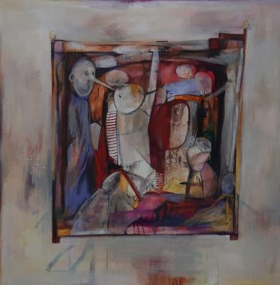 Binnenwereld - Acrylverf - 100 x 100 cm