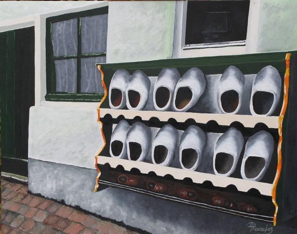 Staverden - Olieverf - 40 x 50 cm