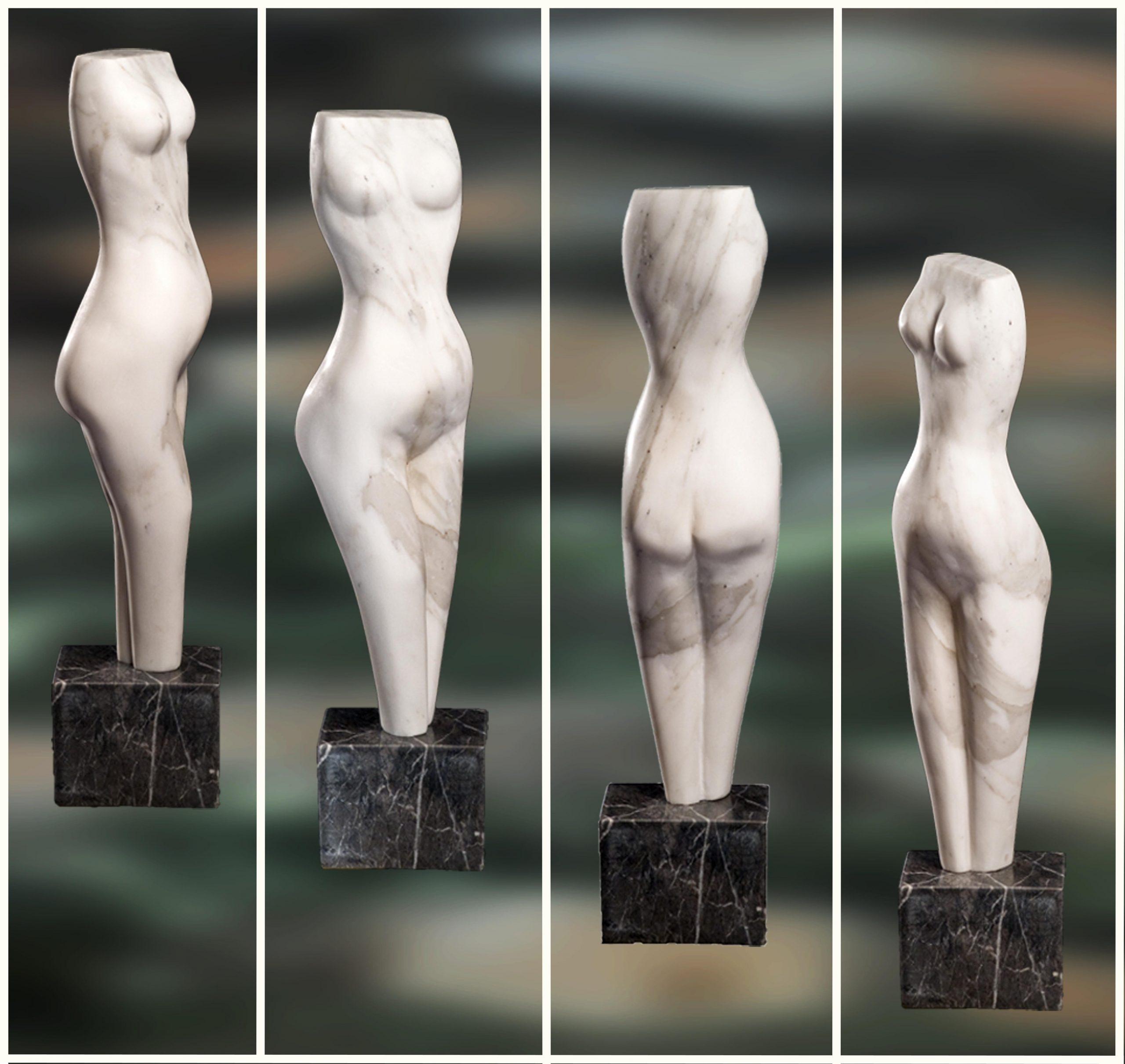 Torso ii - Calacata marmer - 65 x 15 x 13 cm