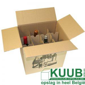 Wijnflessen verhuisdoos: veilig wijn verhuizen