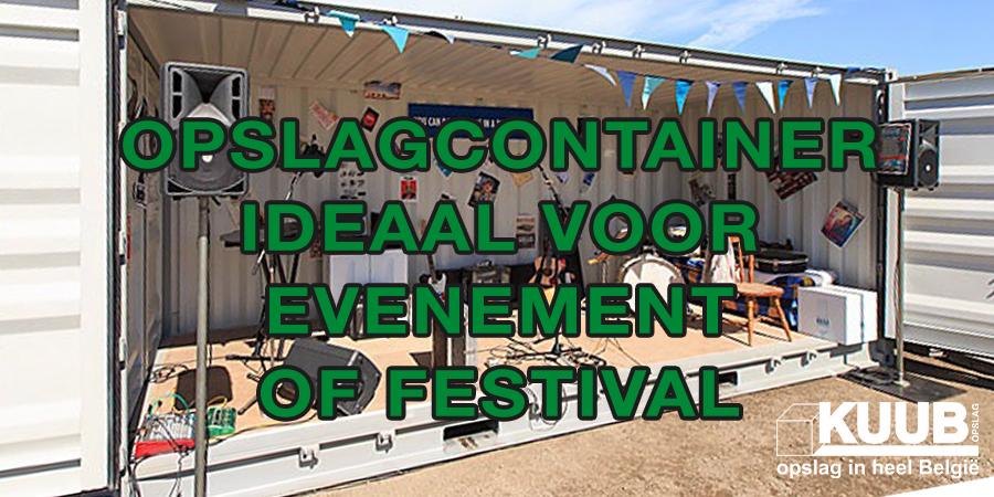 Opslagcontainer ideaal voor evenement