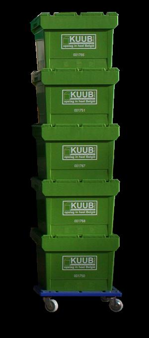 Bij Kuub huur je kunstoog verhuisdozen. Super handig, megaster en nog voordelig ok.