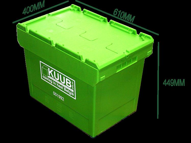 Een GreenBox verhuisdoos is groter dan een gewone kartons verhuisdoos.