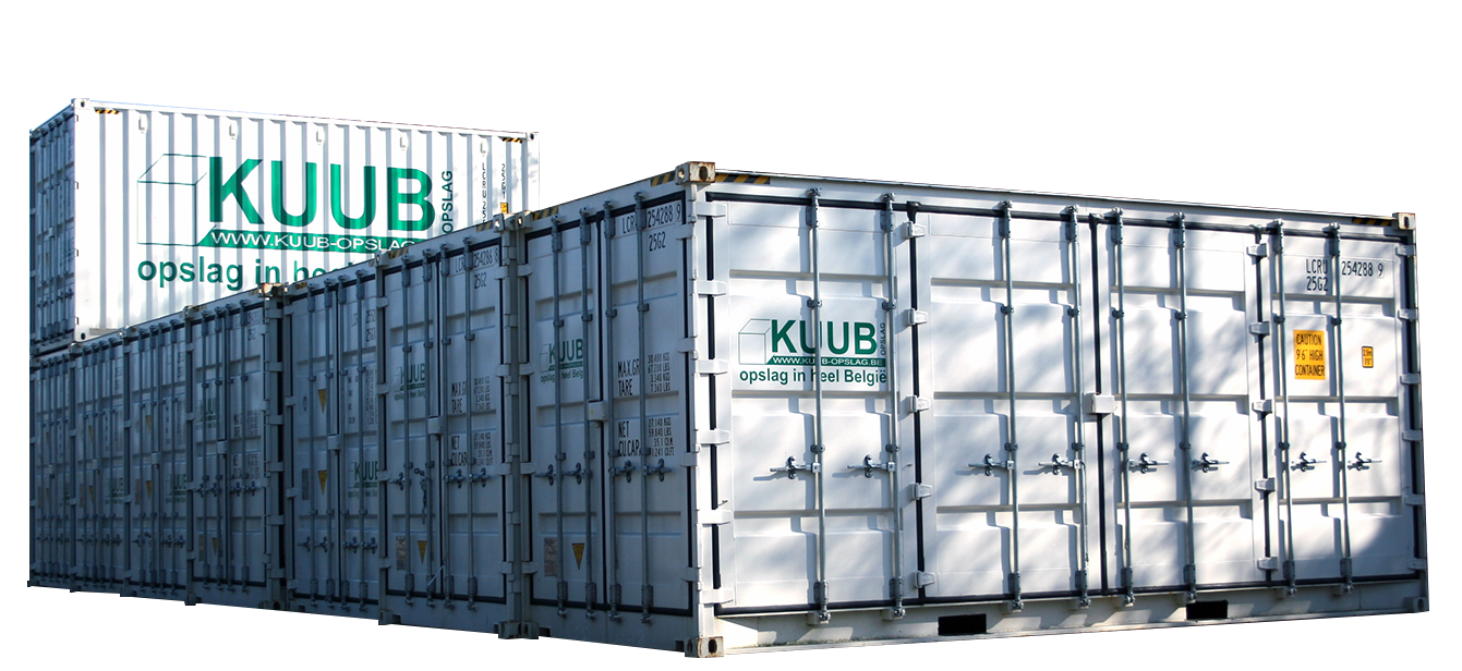 Container te huur in Geel om thuis spullen op te slaan.