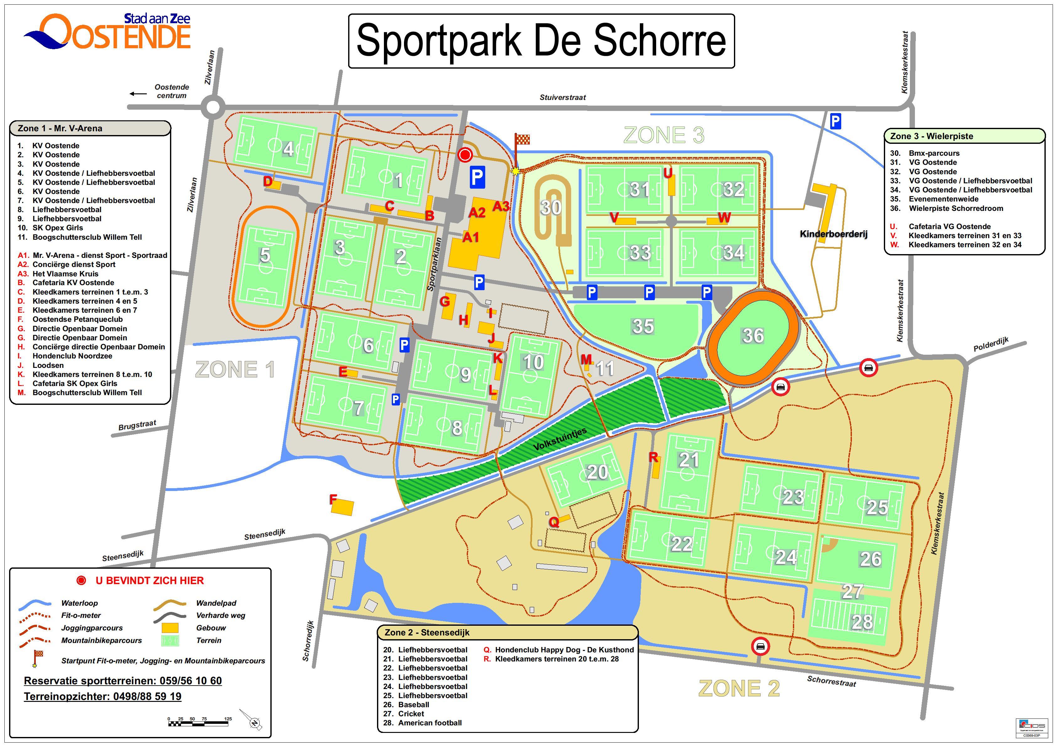 Plattegrond Sportpark De Schorre