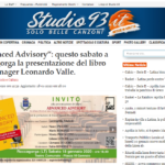 Advanced Advisory, il libro di Leonardo Valle in presentazione a Roccagorga