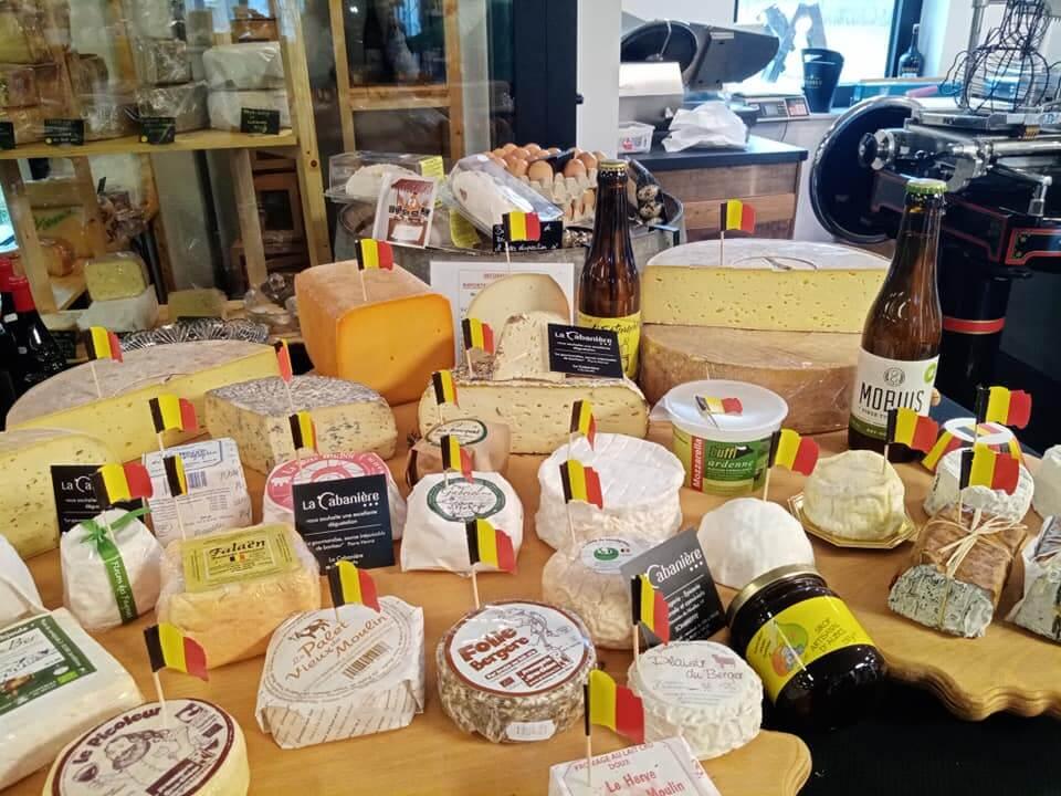 large choix de fromages du terroir