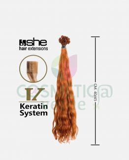 Hex 8003MC Cm40/45 Extension Mossa Con Cheratina Capelli Naturali She