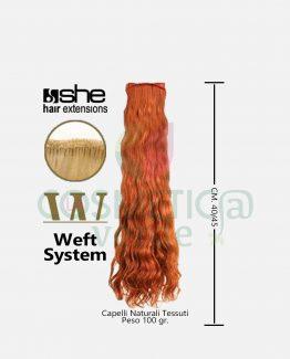 Weft long hair cm.40/45 capelli mossi tessuti she