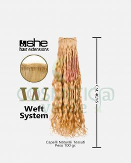 weft long hair capelli naturali ricci tessuti she